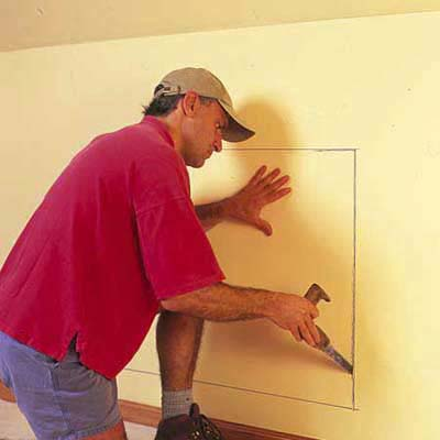 Outline the chest  How to Install KneeWall Storage  This Old House