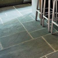 Natural Stone Floor | 26 Low-Cost, High-Style Kitchen ...