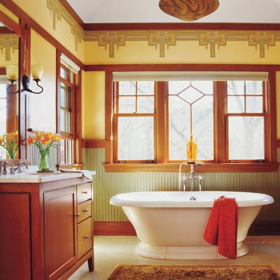 Craftsman  How to Create a Modern Bath in a Vintage Style