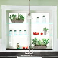 August: Glass Shelves Brighten Our View | UNPUBLISHED ...