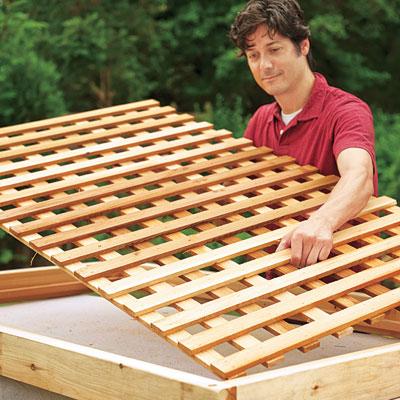 build wood lattice