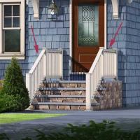 Railing | Photoshop Redo: Cottage Style for a Boxy Cape ...