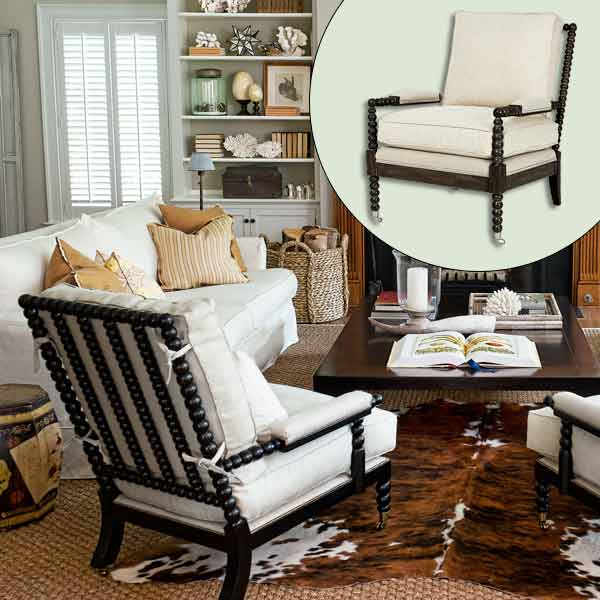 rustic dining chair gray wingback spool | create a naturalist's living room this old house