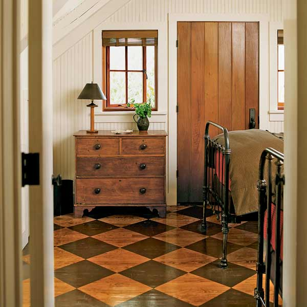 7 Stain a Wood Floor with a Checked Pattern  13 Thrifty