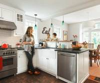 Kitchen After: Open Setup | A Cozy Kitchen With More Light ...