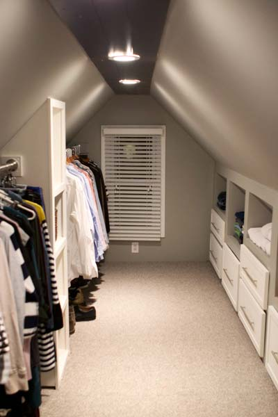 Attic Makeover With Fabulous Walkin Closet After  Best