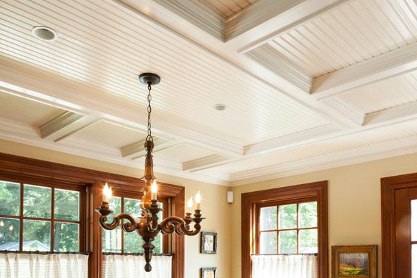 Kitchen Coffered Ceiling