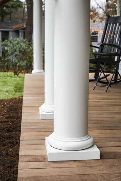 Farmers Porch With Doric Columns  The Lexington Colonial