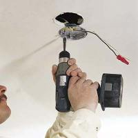 How to install new ceiling fan box, kingsbury oil rubbed