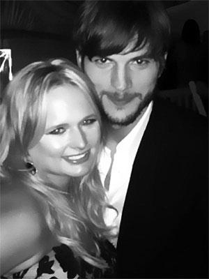 Ashton Kutcher & Miranda Lambert Bury the Hatchet at Pre-Kentucky Derby Party | Ashton Kutcher
