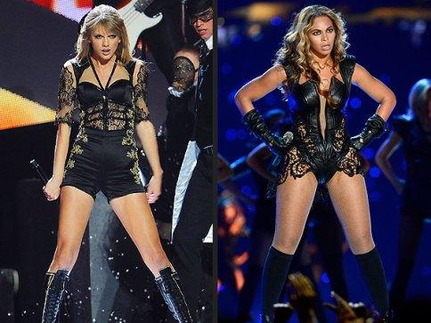 Taylor swift har en tynn figur. Selv om beyonce er kraftigere byd vet hun om hvordan hun skal holde seg slank