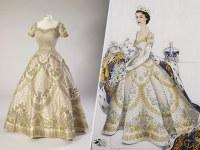 Queen Elizabeth's Wedding and Coronation Dresses Display ...