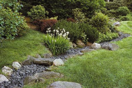 landscaping ideas divert water