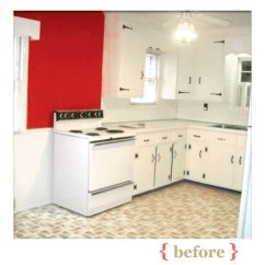 Inexpensive Backsplashes For Kitchens Easiest Kitchen Floor To Keep Clean Before: Out-of-date Dining | A Charming Revamp ...