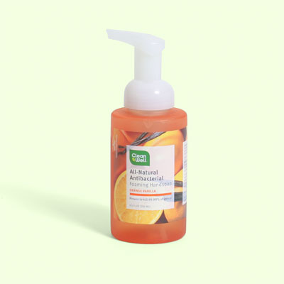 CleanWell All-Natural Antibacterial Foaming Handsoap