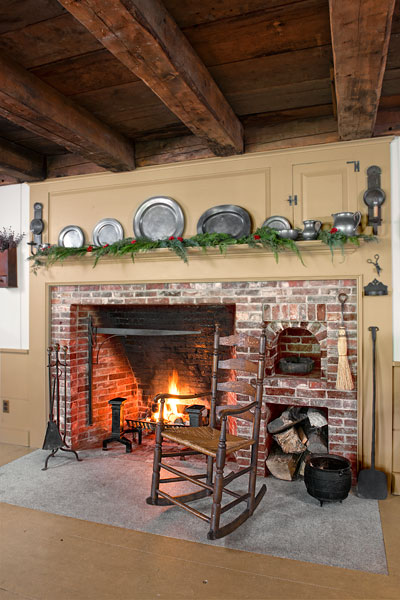 New Fireplace Old Bricks  Farmhouse Kitchen Revival