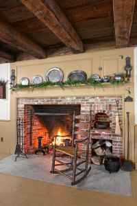 New Fireplace, Old Bricks | Farmhouse Kitchen Revival ...
