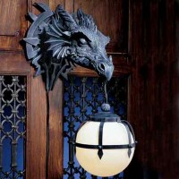 Haunting Castle Dragon Sconces | Halloween-Inspired Home ...