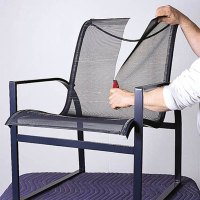 Cut the old sling | How to Repair Aluminum Patio Chairs ...