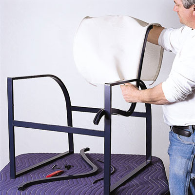 lawn chair repair design plans slide the new sling on | how to aluminum patio chairs this old house
