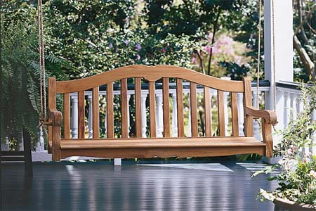 building a porch swing plans