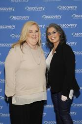 June Shannon, from TLC's Here Comes Honey Boo Boo, and Roseanne Barr are seen at the Discovery Communications 2014 Upfront presentation at Jazz at Lincoln Center in New York City on April 3, 2014.