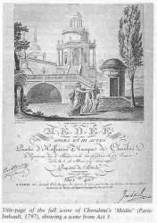 This is the title page from the 1797 opera 'Medee' by Luigi Cherubini.