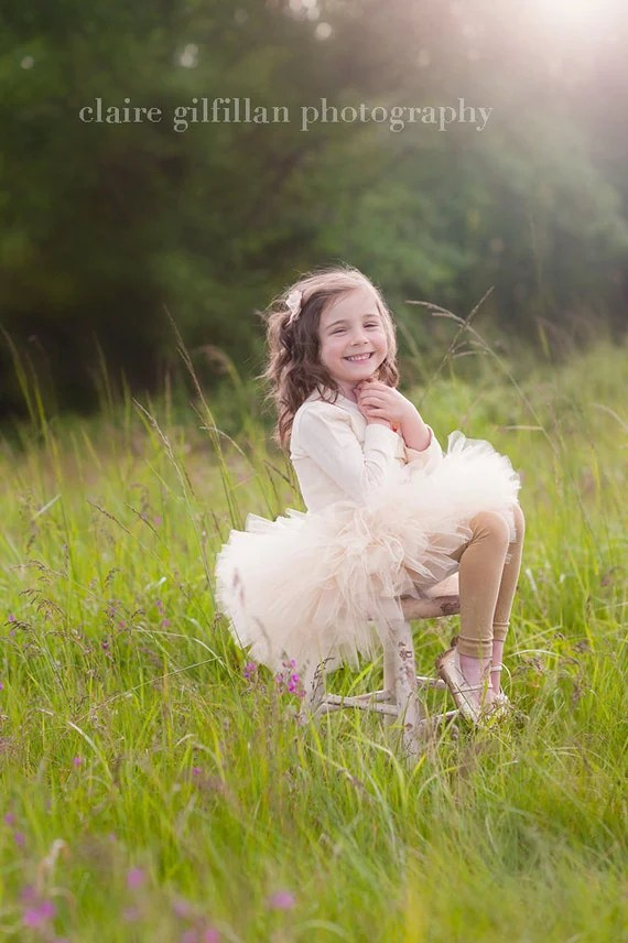 Sweet Vintage Tutu - Perfect for photos and  flower girl  made in any size Newborn - 5T