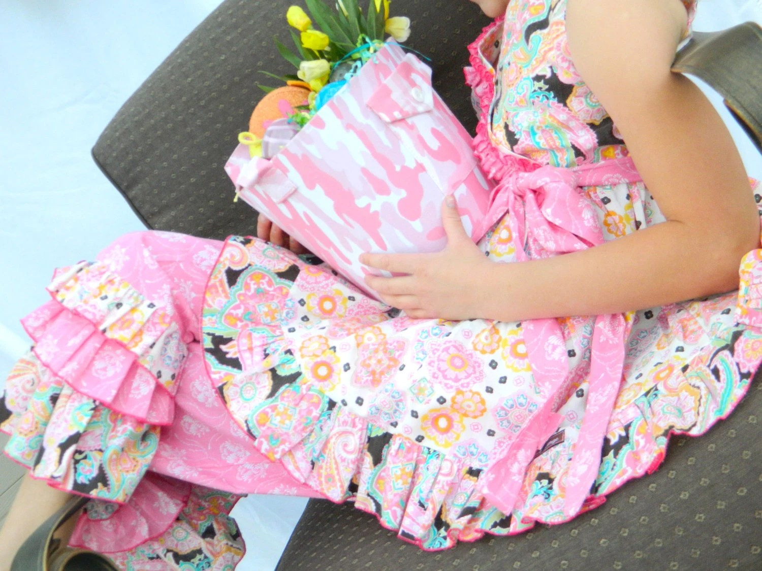 Spring Blooms Top and Ruffle Pants