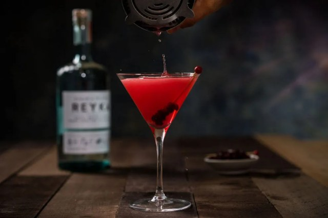 Cran-Spiced Martini with Reyka Vodka