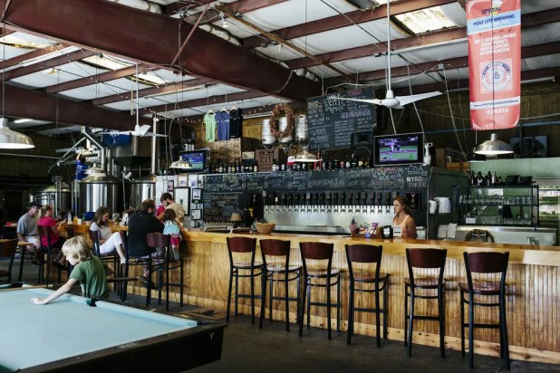 Holy City Brewing's taproom is a gathering place in the Charleston community