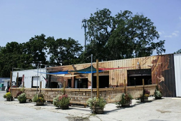Charleston's fair weather helps enhance the outdoor space of Holy City Brewing
