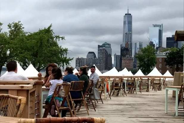Collective Retreats on Governors Island with views of Manhattan