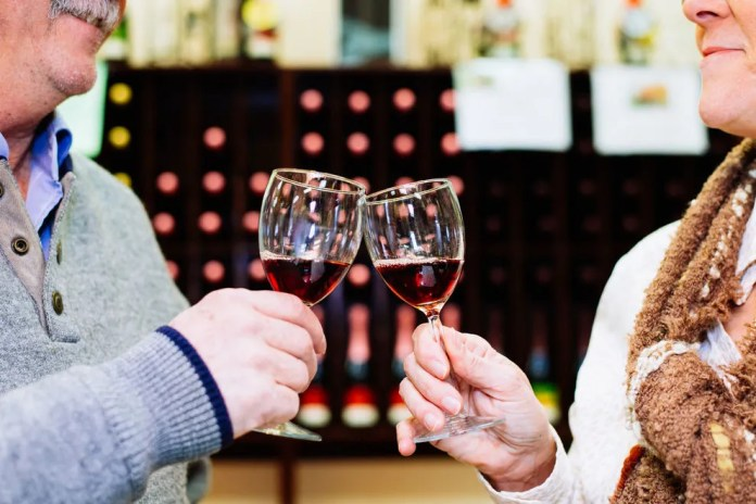 Enjoy a glass of wine with a friend at Hillside