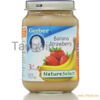 Gerber 3rd Foods Baby Food, Banana Strawberry, Crawler - 6 ...