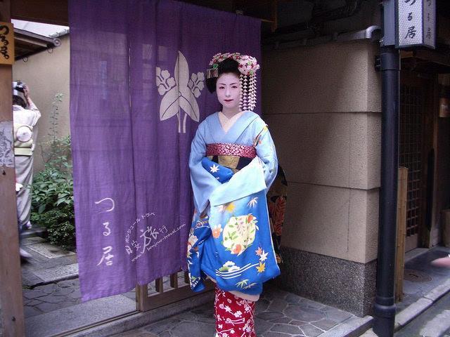 京都花見小路偶遇的舞妓