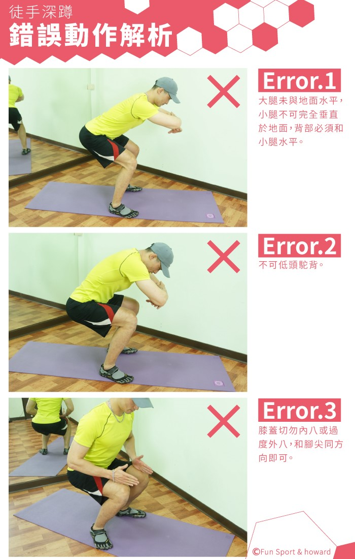 豪氣健身房徒手訓練 - 深蹲 - FunSport 趣運動