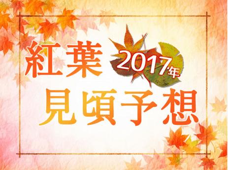 2017最新日本賞楓情報!紅葉見頃予想!