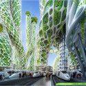 Torres Manglar desde el nivel de calle. Imágen cortesía de Vincent Callebaut Architecture