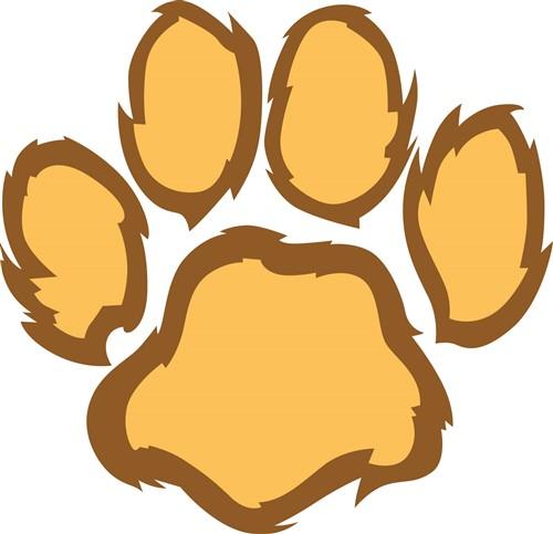 lion paw print print