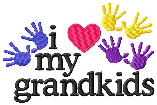 Download I Love My Grandkids/Hands Embroidery Design | AnnTheGran