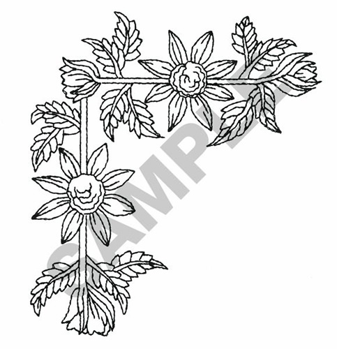 15 Black And White Flowers Corner Border Designs Images