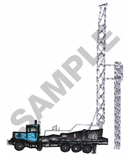 Occupational Embroidery Design: TRUCK MOUNTED DRILLING RIG