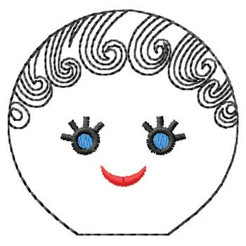 Heads Embroidery Design: Doll Face from Gunold
