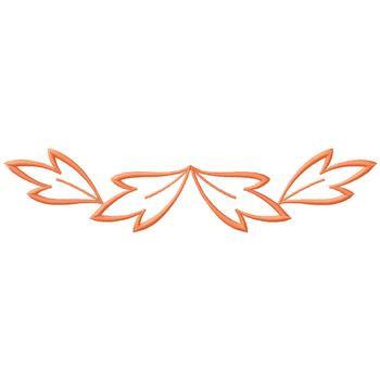 Leaf Outline Border Embroidery Design AnnTheGran