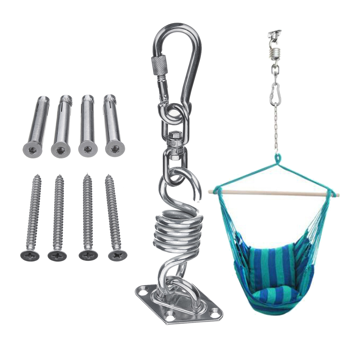 hanging chair from ceiling lift seat for hammocks stainless steel hammock kit