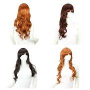 women hair wigs long wavy neat