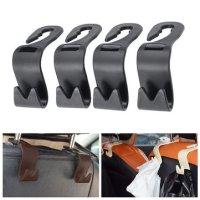 4pcs Car Seat Back Hook Head Rest Storage Hanger Bag ...