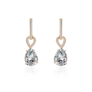 Luxury Earrings 24K Gold and Platinum Plated Water Drop