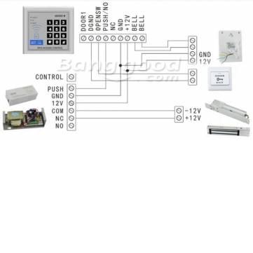 Security RFID Proximity Entry Door Lock Access Control